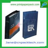 Bolsos de encargo del papel del bolso del regalo de las compras de la impresión en offset con la cinta