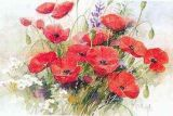 Fleur de la peinture d'huile (004)