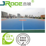 Diez pistas de tenis al aire libre de color que cubre la superficie del deporte