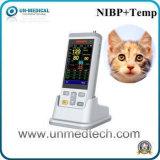 Três parâmetros de mão veterinário portátil com oxímetro de pulso de SpO2+Temp