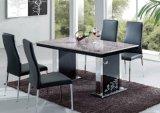 Des chaises en cuir Meubles de salle à manger Cuisine Table à manger haut de marbre