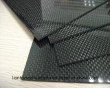 Folha de fibra de carbono de 3 mm Placa de fibra de carbono vermelho