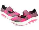 Nuevo modelo de mujer zapatos artesanales elástica