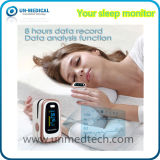 Oxímetro aprovado do pulso da ponta do dedo do Quente-Ce com função de monitoração do sono