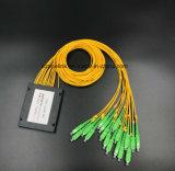 Splitter Sc/APC PLC коробки ABS радиосвязи 1X16 Gpon кабеля оптического волокна