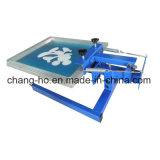 Sola impresora de la pantalla de seda del color para la ropa