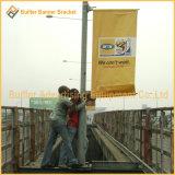 Via Palo che fa pubblicità all'unità del supporto della bandiera della molla della flessione della bandiera