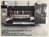 Machine de entaillage et de découpage d'impression ondulée automatique de 4 couleurs Cx-1200