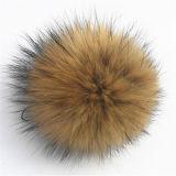 De echte Bal Pompom van het Bont van de Wasbeer voor de Tegenhanger van de Zak