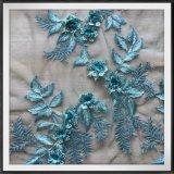 3D laço bordado flor do bordado do laço 3D Tulle do bordado do engranzamento do laço 3D