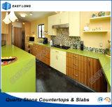 Venda a melhor cozinha da Pedra de quartzo de bancada para decoração com cores puras (alta qualidade)