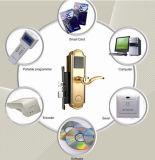 Cartão de chave de segurança antifurto um graminho fechadura do puxador de porta