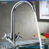 Le traitement un de double de la CE troue des robinets de bassin de cuisine