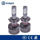Disegno di raffreddamento LED dell'automobile di H7 12V 24V del ventilatore di alluminio bianco della lampadina per il kit diretto di conversione dell'indicatore luminoso dell'automobile di Bolton LED della lampada della nebbia del faro del rimontaggio