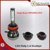 Farol do diodo emissor de luz de Philip 9005 (HB3) H10 Pi68 com único feixe