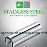Tubo chino de la ranura del acero inoxidable de la barandilla de la barandilla y del vidrio del fabricante del surtidor