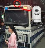 Visão nocturna de 100 m pequeno veículo câmara CCTV PTZ infravermelho