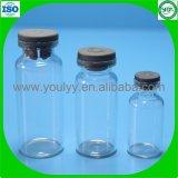 Los viales de inyección de vidrio con tapón de goma
