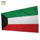 Polyester Koweït drapeau national (b-NF05F03006)
