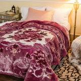 標準的で安く高い量のRaschelのアクリルのミンクポリエステル冬毛布