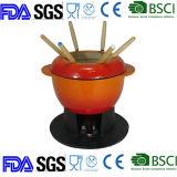 Fondue de hierro fundido esmaltado hierro colado Set /utensilios de cocina
