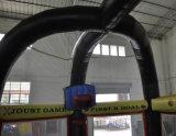 Inflable Negro Sports Arena / 6 juegos inflables en 1 juegos en grupo