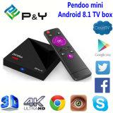 Android 8.1 Pendoo mini intelligenter Fernsehapparat-Kasten IPTV Apk
