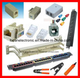 Cat5e Keystone Jack face plates & 110 Cableado / Bloque Probador de Cable & Patch Panel bloque cableado RJ45
