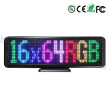 P4.75-16*64RVB Affichage LED programmables de l'Intérieur signe pour salle de Metting Boutique Hôtel de la publicité du ramasseur