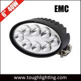 Encendido automático de luces LED de 6 pulgadas de 40W LED CREE Oval Carretilla de luces con soportes laterales