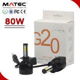 Super potencia de 12V 80W LED Automóvil 6k H4 de luz LED brillante luz de coche con 4 lados COB fichas