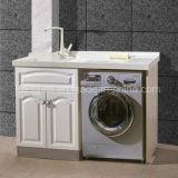 Quartzo artificial lavatório em granito com vaidade de cima para máquina de lavar roupa