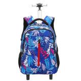 Impressão Floral de moda com haste de carrinho mochila Oxford sacos impermeáveis