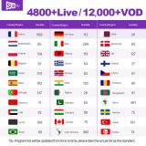 Abonnement Subtv IPTV plein l'Europe et l'arabe canaux IPTV Package 1 an Code Actvated Iudtv TV Channel
