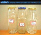 280/360/380ml leeren trinkendes Glas-Saft-Flasche mit Abziehbild-Service
