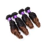 ばねの巻き毛のOmbre 2の音色の人間の毛髪の拡張