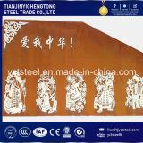Placa de aço resistente Corten do tempo uma placa 10mm laminada a alta temperatura