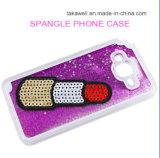 주문 도매 과일 반짝임 셀룰라 전화 덮개 케이스 플러스 Samsusng S6 가장자리를 위한 액체 모래 유사 상자