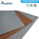preço composto de alumínio do painel dos materiais de construção do edifício do revestimento de 4mm PVDF