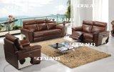 [بروون] لون حجم كبيرة لأنّ دار جلد أريكة مجموعة