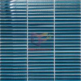 Mattonelle di mosaico di vetro della striscia nel colore blu (PT60)