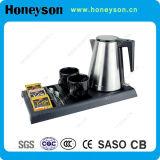 Une bouilloire électrique Honeyson bac défini Hôtel produit
