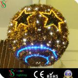 3D Licht van de Bal van het Motief van Kerstmis van de Slinger Lichte