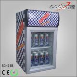 Einzelne Glastür-Getränkedosen-Bildschirmanzeige-Kühlvorrichtung (SC-21B)