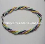 Shell Perlas Collar Multicolor trenzado/ Beads Multicolor Collar reborde colorido collar de cordón (PN-150)