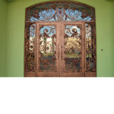 Дешевые цены металлические двери из кованого железа