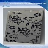 Plaque gravée en acier inoxydable pour papier peint