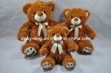 De donkere Bruine Teddyberen van de Zitting met Bowtie (de huid is beschikbaar)