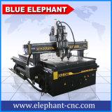 machine à sculpter CNC multi la fusée en bois, deux têtes CNC routeur avec le Rotary