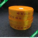 De Etiketten van de Instructies van de Was van de Stof van het Satijn van de Polyester van de Druk van de douane